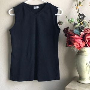 Eileen Fisher Vneck Spandex Stretch Blouse Top